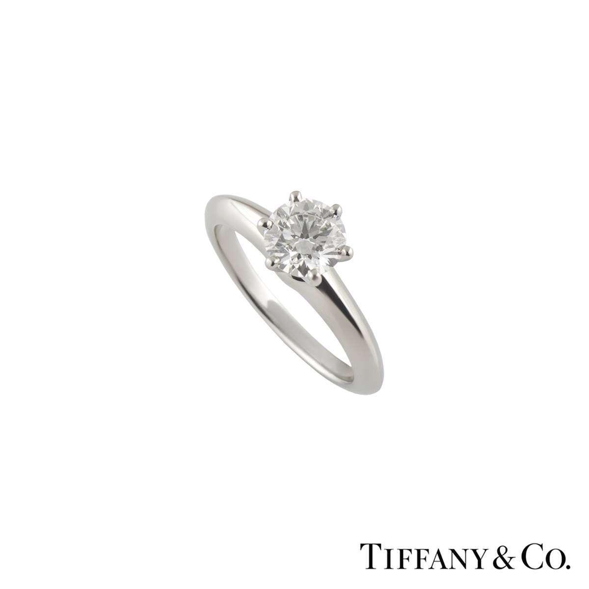 Tiffany & Co. Diamond Setting Band Platinum Ring 1.08ct H/VS1 XXX